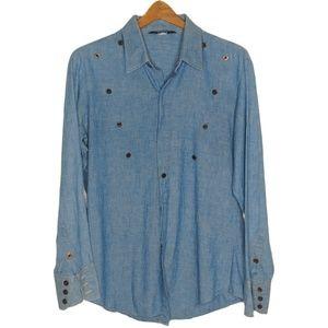 Levi's Chambray Denim Button Down Shirt Large